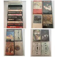 Rock Metal Cassette Tape Lot Whitesnake Rolling Stones Chicago Van Halen