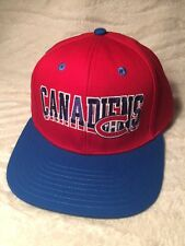 VINTAGE HOCKEY NHL MONTREAL CANADIANS SNAP BACK HAT