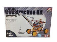 Metal Construction Kit Kran  235 Teile