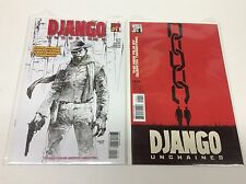 DJANGO UNCHAINED #1 (VERTIGO/JIM LEE SKETCH VARIANT/MOVIE/0616197) SET LOT OF 2