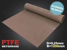 PTFE Glasgewebe Folie / Anti-Haft-Folie / Teflon-Folie /  0,25mm / B=1200mm