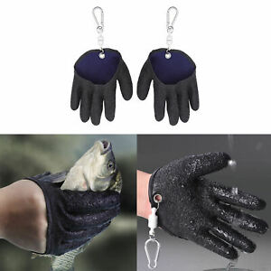 Professional Catching Fish Gloves with Magnet Release Safety Cut Fly