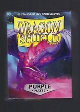 Dragon Shield Matte Purple (100) Shield Sleeves Free Shipping