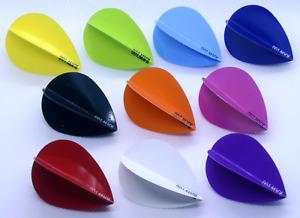RAW 100 - Pear Shape Dart Flights, 100 micron, Quality flight in 10 colours