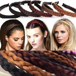 Geflochten Haarreifen Haarschmuck Stirnband Zopf Haarband Dirndl Blond Weinrot