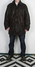 "Sheepskin Leather Fitted Coat Jacket XXL 48"" Brown (2BG)"