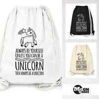 Turnbeutel Einhorn - Always be yourself unless you can be a unicorn - Moonworks®
