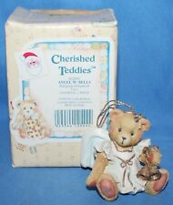 Cherished Teddies Angel W/ Bells Figurine Ornament #912980 1993