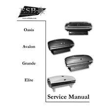 ESB Tanning Bed Service Manual Oasis Avalon Elite Grande PRINTED MANUAL