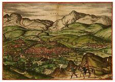 Loja Granada Andalusia Spain bird's-eye view map Braun Hogenberg ca.1575