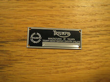 Triumph Metal Display Plaque Diecast 1/24 1/18 1/43 Spitfire TR6 TR7 TR3 TR4 TR8