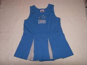 NFL Detroit Lions Girls Cheerleader Dress Size 24 EUC