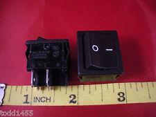 Kema Keur A4 T125/55 Black Rocker Switch Lot of (2) ON OFF 10a 125v 250v ac New