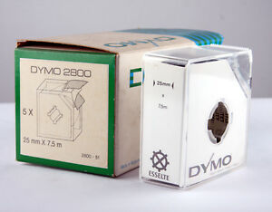 Vintage Dymo Engraving Tape 2800  25mm x 7.5m Black