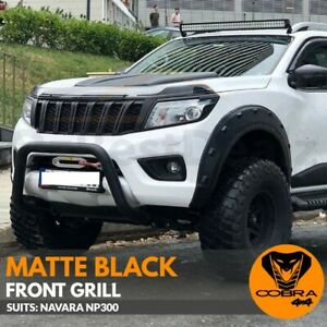 FRONT GRILL fits NISSAN NAVARA NP300 2015 2016 2017 2018 MATTE BLACK D23