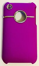 Handy Hülle Schutz iphone 3 GS Hard Cover Lila Chrom Bumper Back