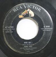 Hear! Pop 45 Doree Post - Who Am I / Rock & Roll Calypso On Rca