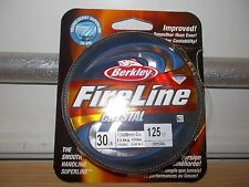Berkley FireLine Crystal 30 lb 125 yards crystal Nib