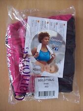 Bra Glamorise 1266 High Impact Zipper Sports Bra Pink & Black 40 D New + Sealed