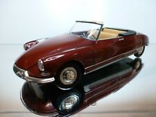 NOREV CITROEN DS 19 CABRIOLET - RED METALLIC 1:18 - VERY GOOD CONDITION