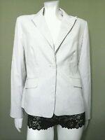 Ann Taylor Women's Blue & White Pinstriped Jacket Blazer Size 08