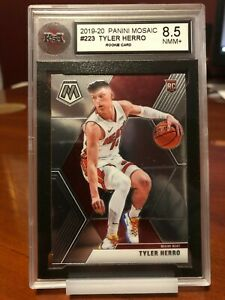 2019 Panini Mosaic Basketball Tyler Herro #223 Rookie KSA Graded 8.5 Miami Heat