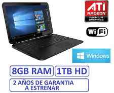 "Ordenador portatil HP 15"" 8Gb RAM HD 1Tb ATI R2 1696MB WINDOWS 10 + OFFICE"