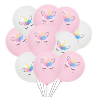 "10PCS Unicorn Horse 10"" Latex Balloons Birthday Party Decorations Girls Magical"