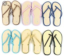 Women Bamboo Flip Flops - Chevron Woven - Assorted - Lot of 96 - Bulk - Wedding