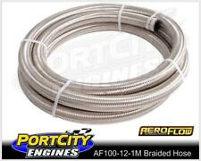 Aeroflow Stainless Steel Braided Hose -12AN 1 Metre 100 series AF100-12-1M