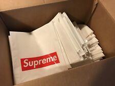 Supreme White Plastic Shopping Bag Red Box Logo 16 X 13 Pack of 20 bogo tnf cdg