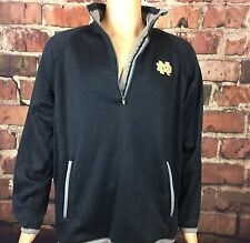 Notre Dame ND GOLD Long Sleeve Men's Fleece 4ZIP/Alpine Navy Medium - MSRP $90
