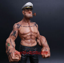 "IN STOCK 12"" Headplay Popeye 1/6 FIGURE The Sailor Resin Statue TATTOO BODY"