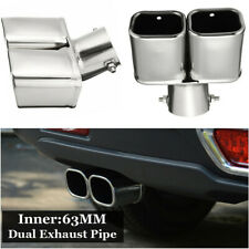 63MM Autos Car Bent Tail Pipe Muffler Exhaust Silencer Stainless Steel Universal