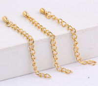 20Pcs//Set 5x3MM Metal Extender Chains With Drop Tail Links Jewelry Finding 5-7CM