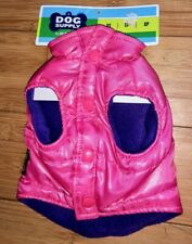 Old Navy Dog Supply Pink Purple Quilted Ski Team Puffer Vest Pet Coat Jacket XS