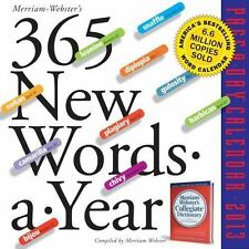 365 New Words-a-Year 2013 Page-A-Day Calendar by Merriam-Webster