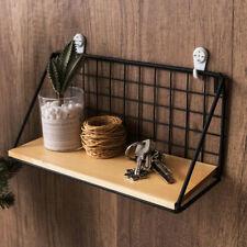 Iron Metal Rack Industrial Modern Storage Wood Wall Shelf Shelves Hanging