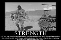 WW2 Picture Photo General George Patton quote about Strength  2850