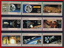 TANZANIA = SPACE / ASTRONOMY  APOLLO 11 on MOON MNH FLIGHT STAGES (K-J18)