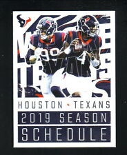 Houston Texans--JJ Watt--Deshaun Watson--2019 Pocket Schedule-First Community CU