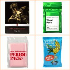 Cards Against Humanity Expansions: College, Period, Food & Weed Pack, New CAH