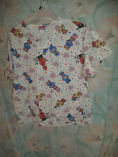 SCRUBLAND TEDDIE BEARS,STARS & STRIPES FIREMEN... SCRUB TOP SIZE L (2 POCKETS)