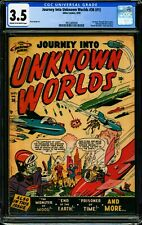 JOURNEY INTO UNKNOWN WORLDS #36 (#1) CGC 3.5 VG- 1950 Atlas Comics, Golden Age