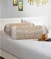 Ethnic Bolster Cover Elephant Pillow Handmade Bedding Cylinder Neck Bolster