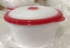 Tupperware Stuffables™ Container 8 Cup Bowl Red Flexible Seal - NEW