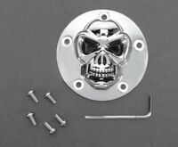 Chrome Skull Timer Points Cover for Harley Davidson Twin Cam Softail Dyna Ultra