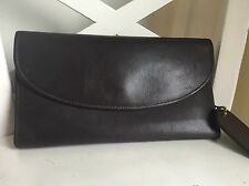 EUC COACH Brown Leather Checkbook  Vintage  Wallet