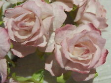 20 DUSTY PINK Mulberry Paper ROSES 33mm WEDDING CRAFT CAKE CARD DECORATIONS