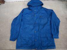 Vintage Eddie Bauer Parka Jacket Coat Men's Size Large Tall Blue Blanket Lined